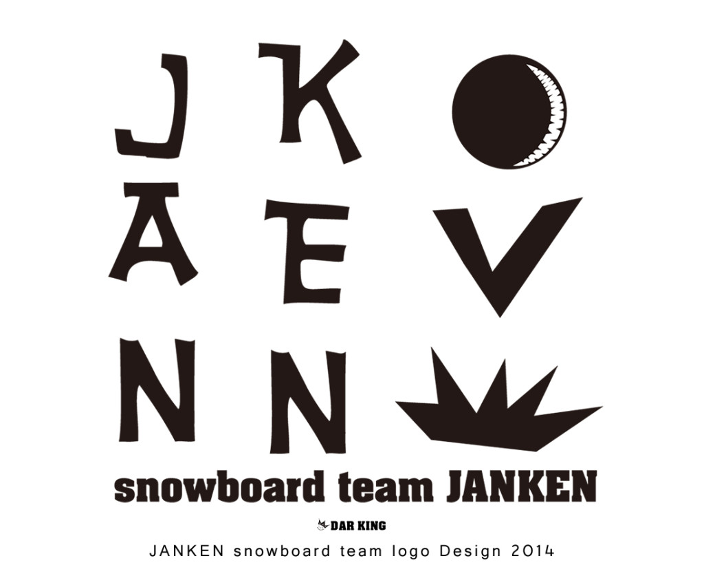 JANKEN snowboard team logo Design 2014